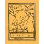 Exlibris - Fernand Khnopff. On n'a que soi (französisch: Man gehört sich nur selbst).