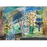Werner Gilles. Tropische Vegetation. Öl auf Leinwand. 1928. 40,0 : 54,5 cm. Signiert. Entstanden
