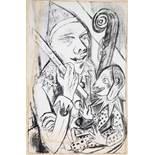Max Beckmann. Pierrot und Maske. Lithographie. 1920. 31,0 : 20,2 cm (32,3 : 24,2 cm). Erschienen