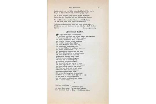 Thomas Mann Zweimaliger Abschied Gedicht In Die