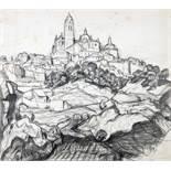 Felix Klipstein. Segovia. Bleistiftzeichnung. 1909. 44,7 : 50,2 cm. Betitelt und datiert. Auf festem