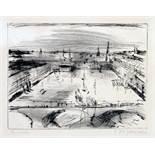 Franz Maria Jansen. Hamburg. Kaltnadelradierung. 1920. 17,4 : 23,6 cm (27,1 : 37,3 cm). Signiert und