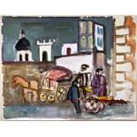 Werner Gilles. Forio d'Ischia. Aquarell. 1938. 48,5 : 62,0 cm. Signiert und datiert. Rückseitig