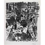 Paul Gangolf. Koksende Hure. Lithographie. 1926. 31 : 25 cm (40,8 : 30,8 cm). Signiert. Je eins