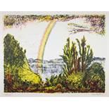 Erich Heckel. Regenbogen. Farblithographie. 1964. 43,6 : 57,5 cm (56,0 : 71,0 cm). Signiert, datiert