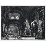 Giovanni Battista Piranesi. Veduta interna della villa di Mecenate. Radierung. 1764. 47,5 : 62,0