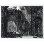 Giovanni Battista Piranesi. Interno de Tempio d.o di Canopo nella Villa Adriana. Radierung. 1776.