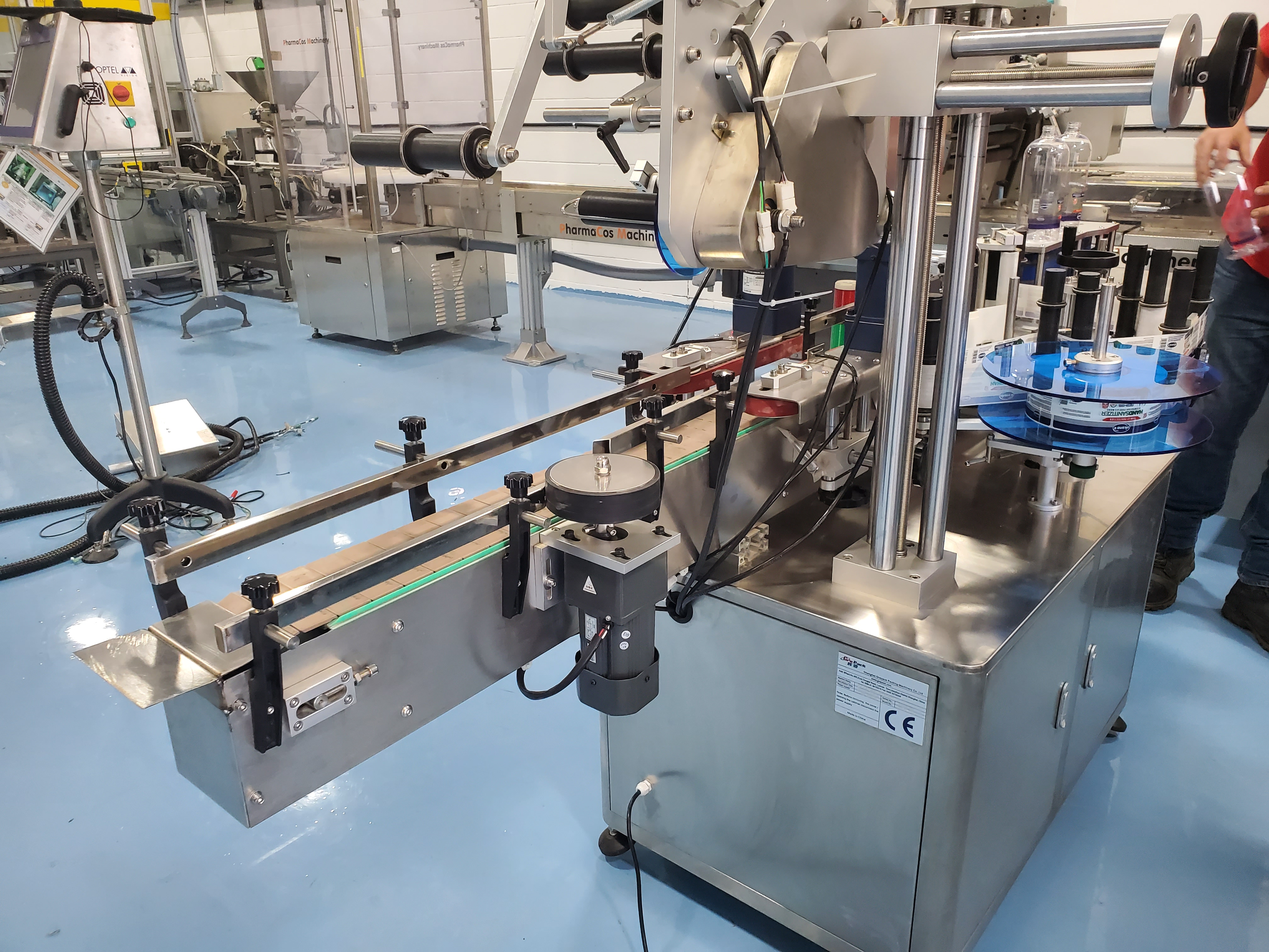 Grepack Packing Machine Integrated Wrap Around and Top Down Labeler with Conveyor - Image 4 of 8