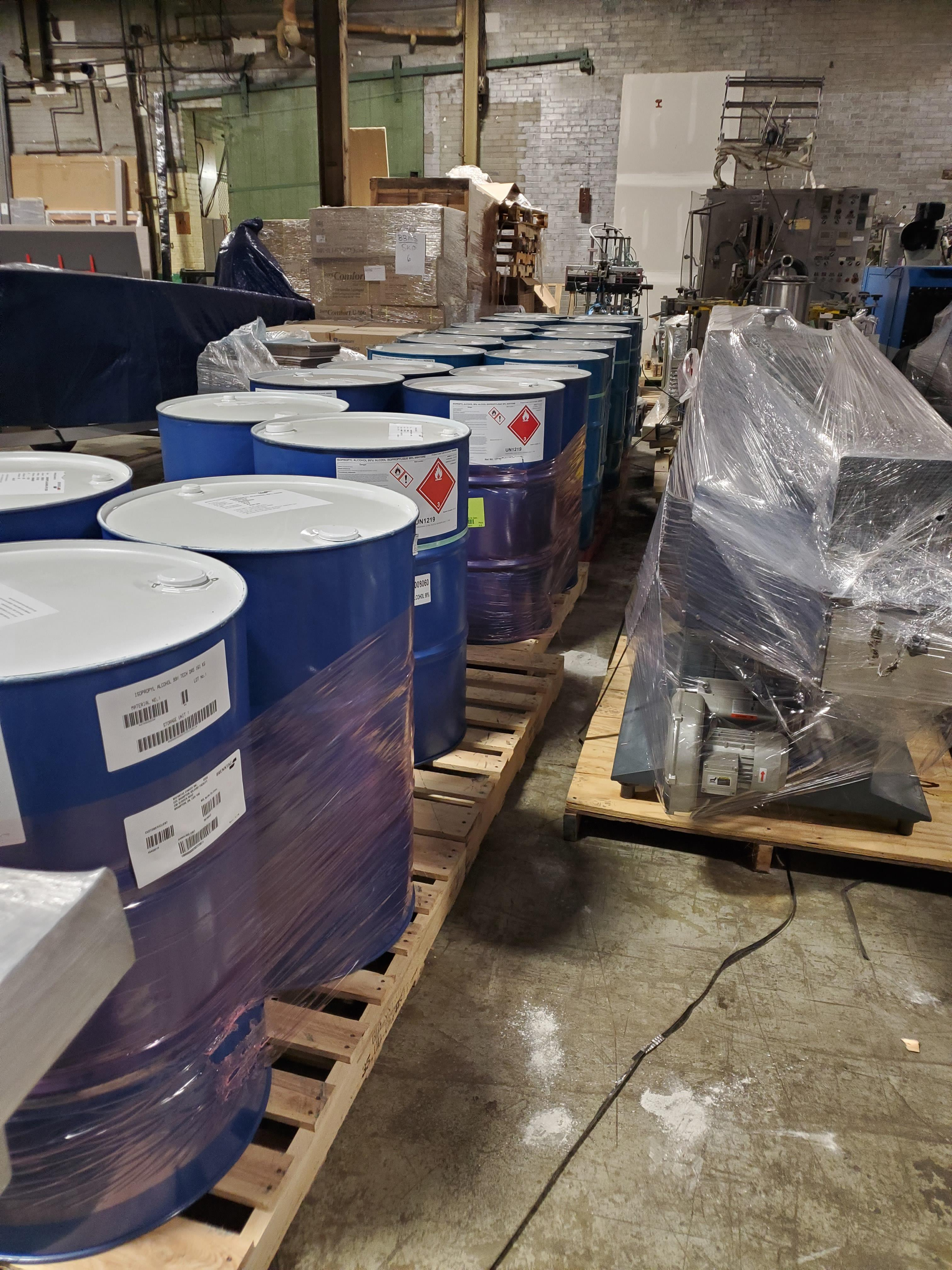 Package F - 8 Drums Denatured Alcohol DA-2I, New, Fresh, will include COA Location B1, Must be - Image 2 of 3