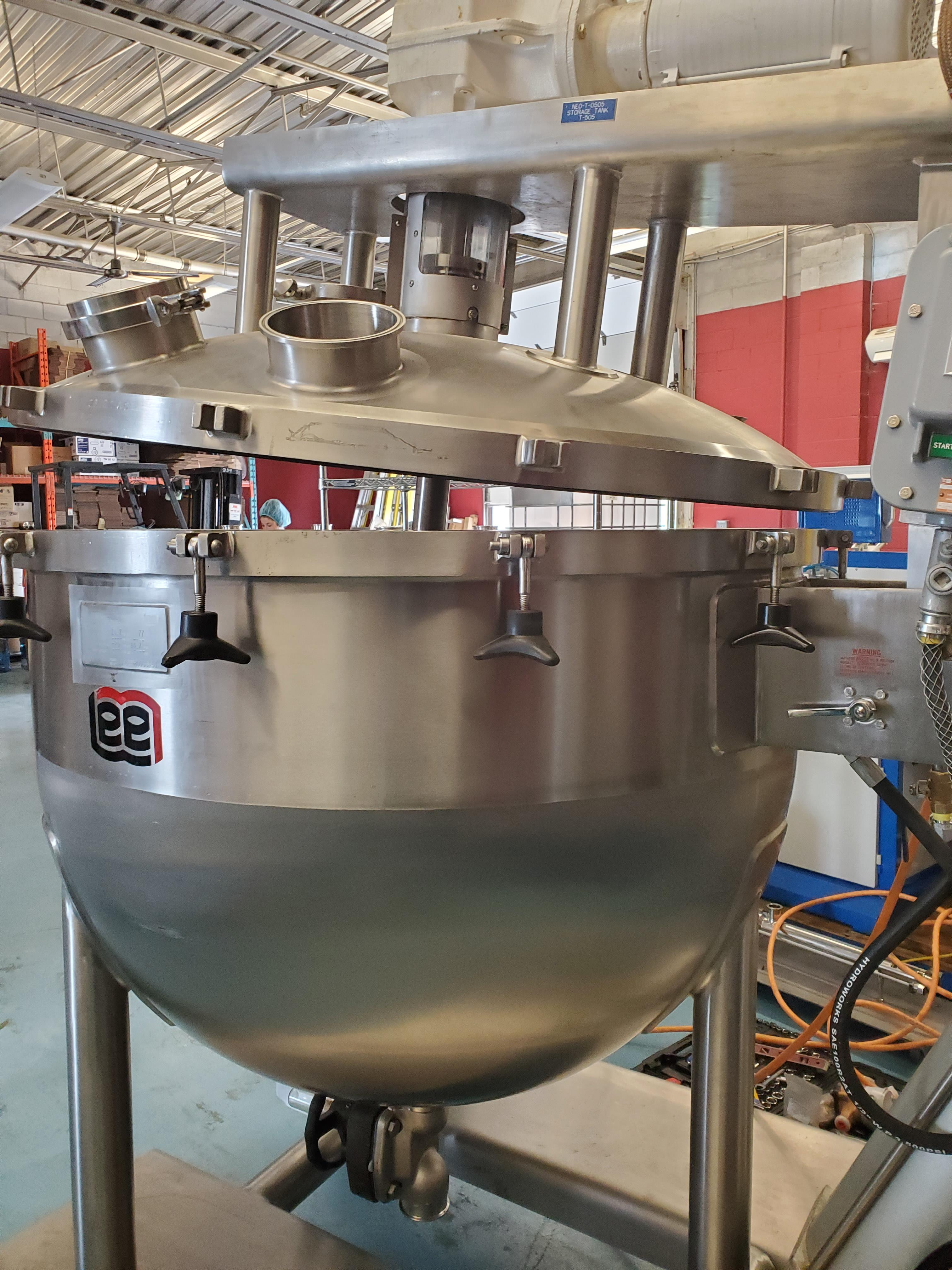 Lee 200 Gallon Stainless Steel Kettle with scrap agitation - Image 2 of 9