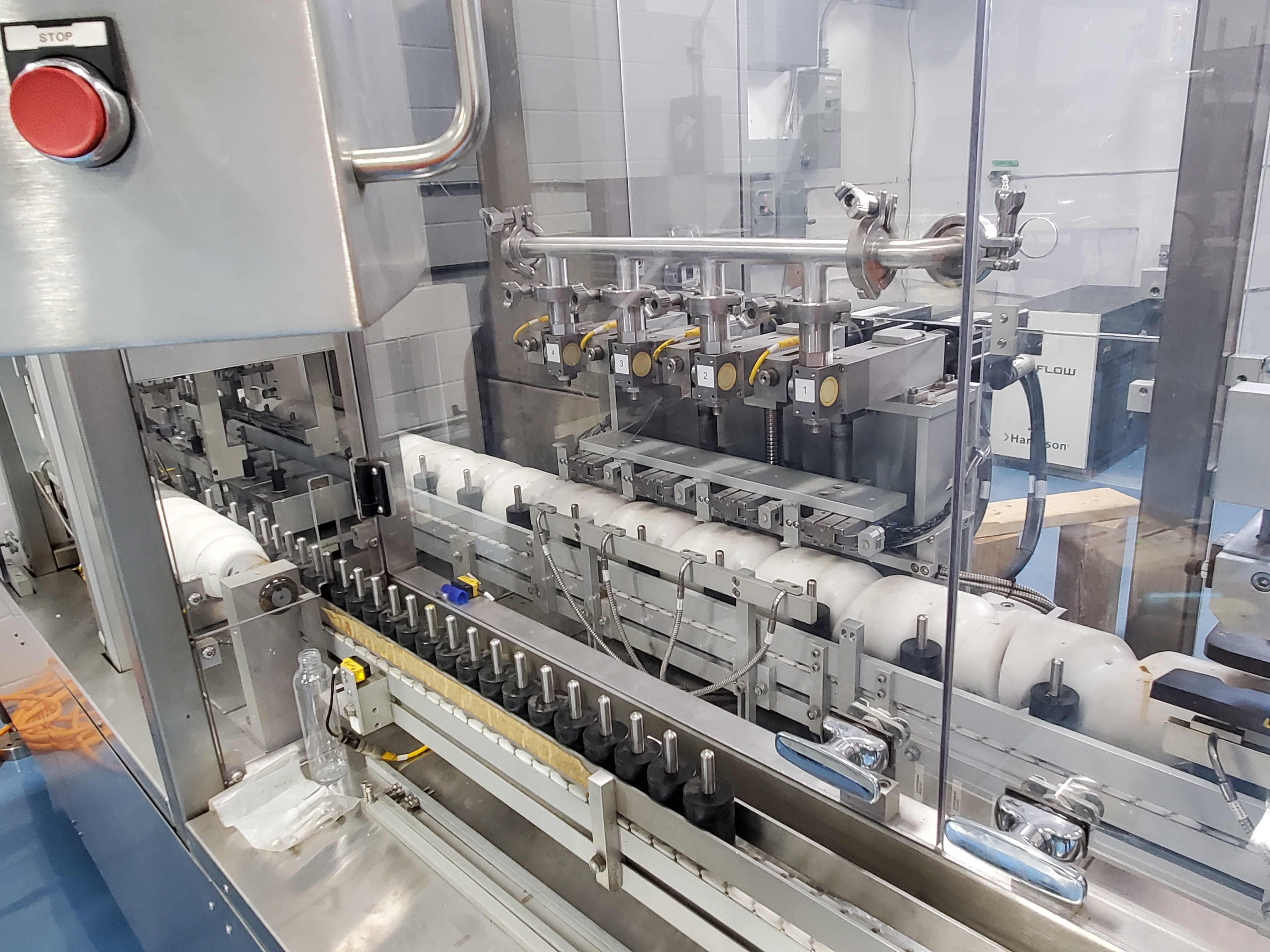 Hibar gel liquid filling line, model P0493, stainless steel construction, intermittent motion, - Image 3 of 3