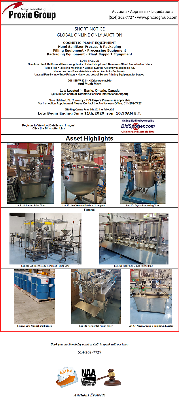 Bulk Lot of All Machinery and Equipment that has been listed and Described Includes Lot 2 -520