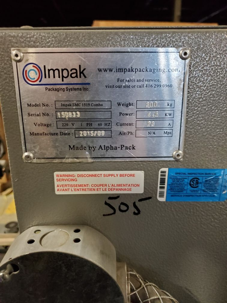 Impak Packaging Systems L-Bar Sealer and Shrink Tunnel - Image 6 of 6