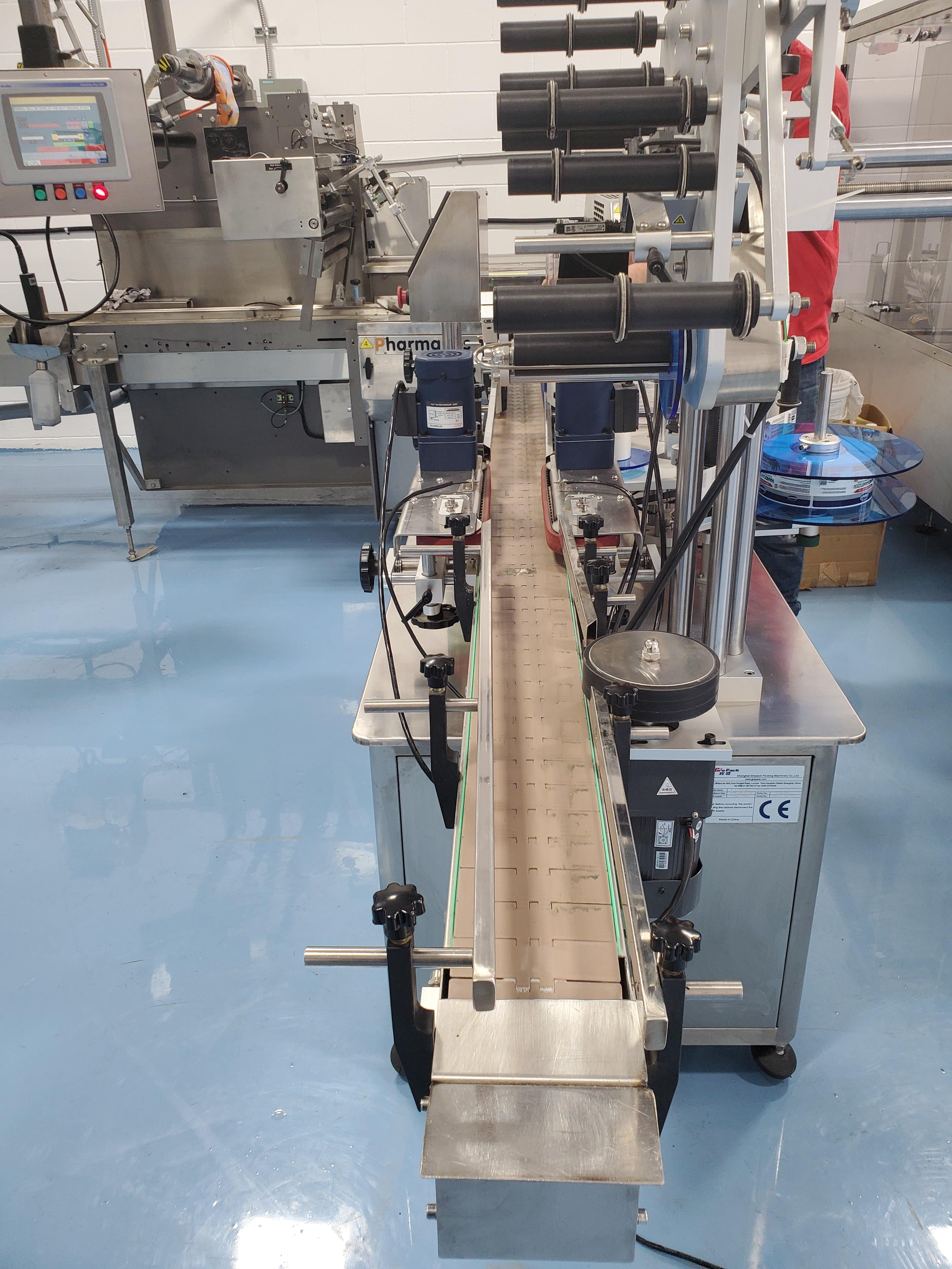 Grepack Packing Machine Integrated Wrap Around and Top Down Labeler with Conveyor - Image 6 of 8