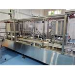 Hibar gel liquid filling line, model P0493, stainless steel construction, intermittent motion,