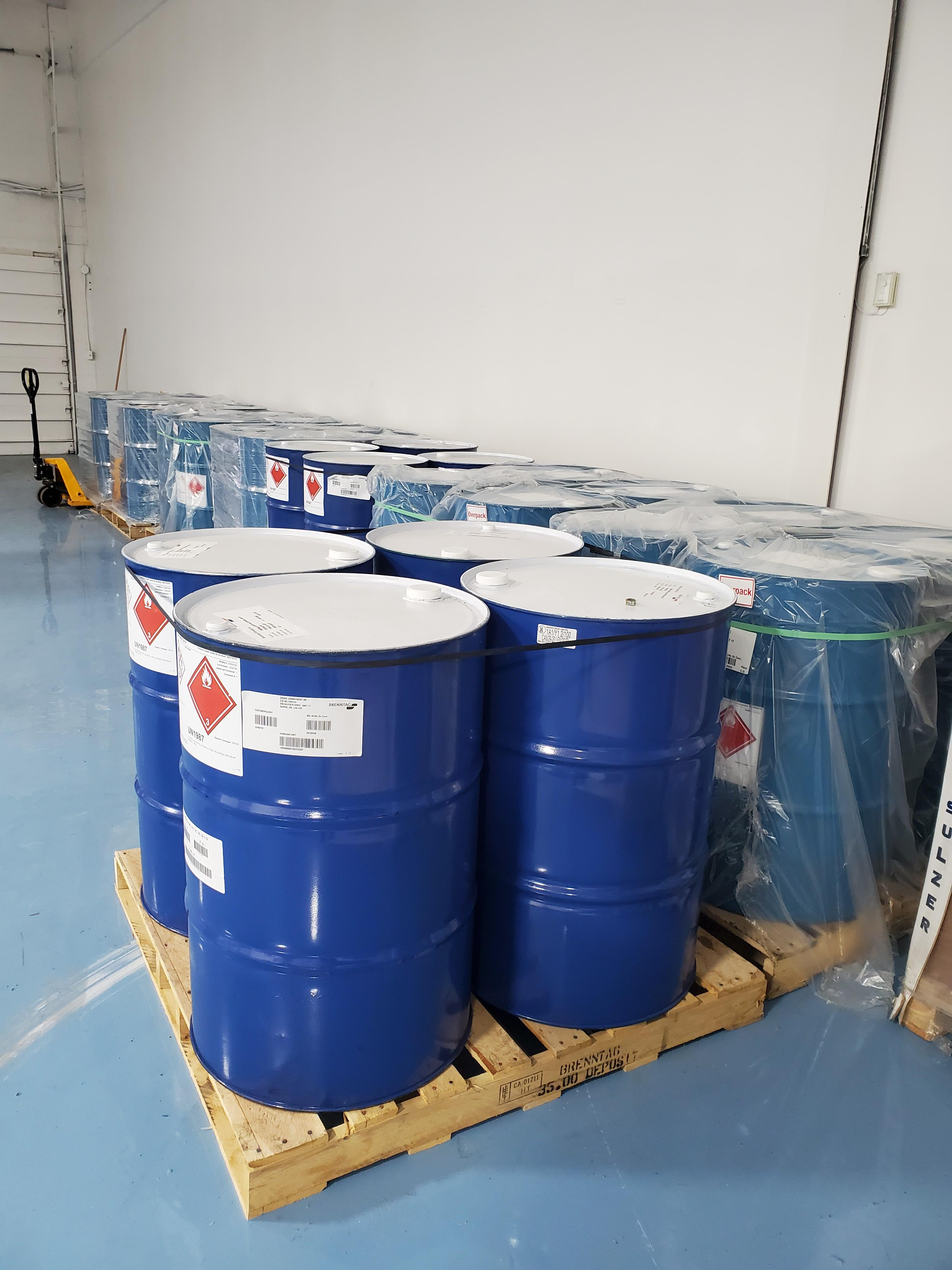 Package F - 8 Drums Denatured Alcohol DA-2I, New, Fresh, will include COA Location B1, Must be - Image 3 of 3