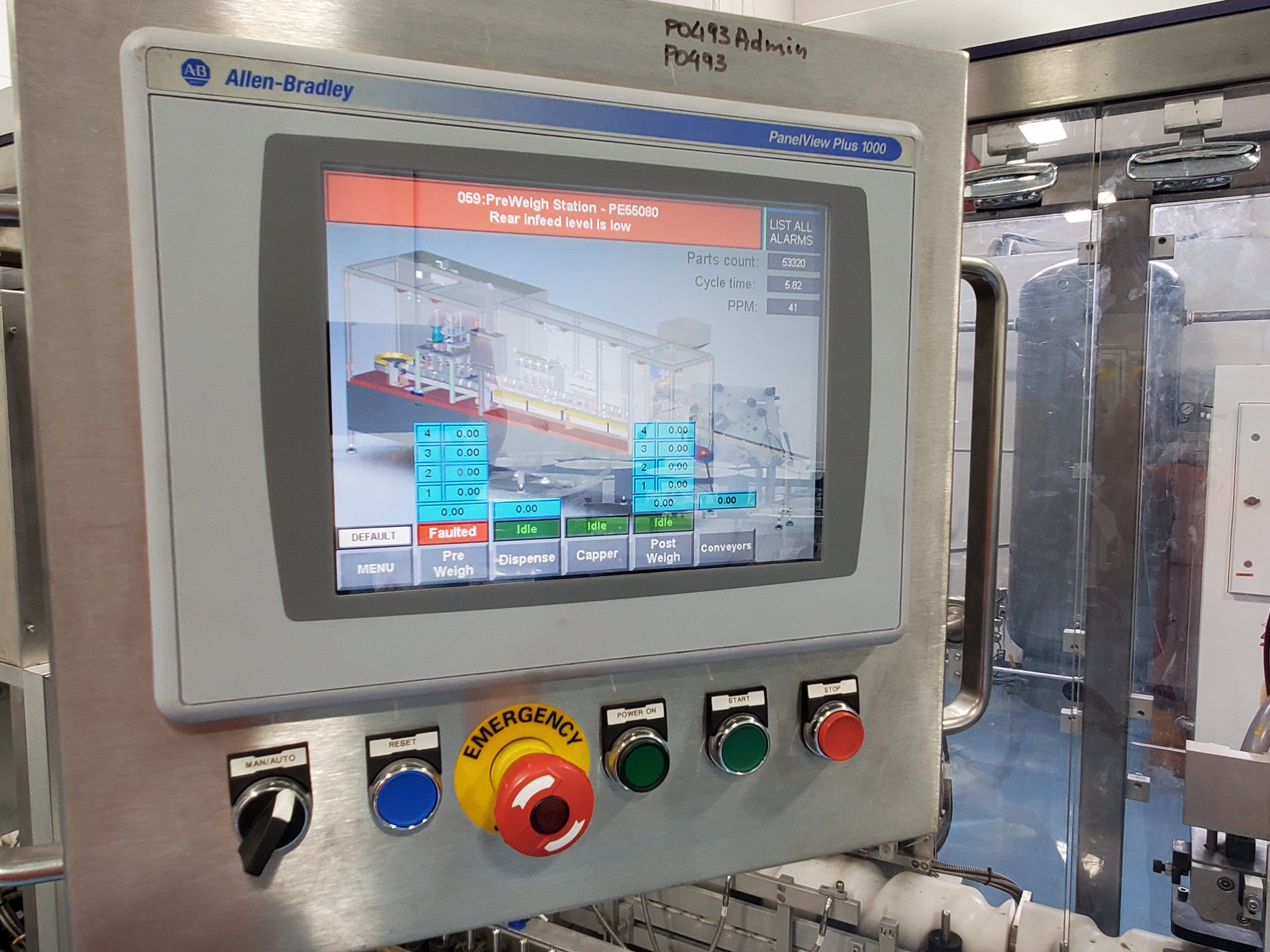 Hibar gel liquid filling line, model P0493, stainless steel construction, intermittent motion, - Image 2 of 3