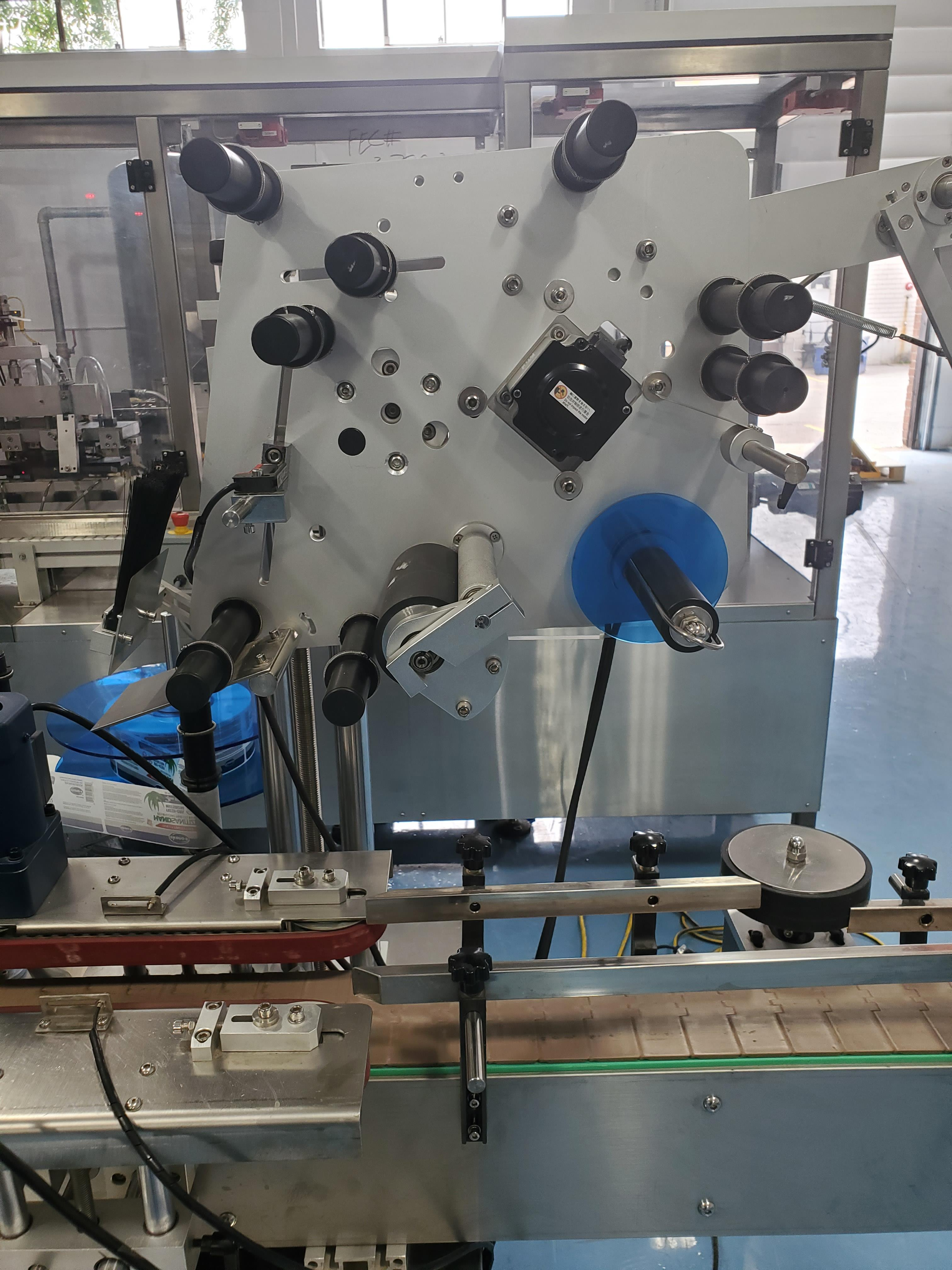 Grepack Packing Machine Integrated Wrap Around and Top Down Labeler with Conveyor - Image 7 of 8