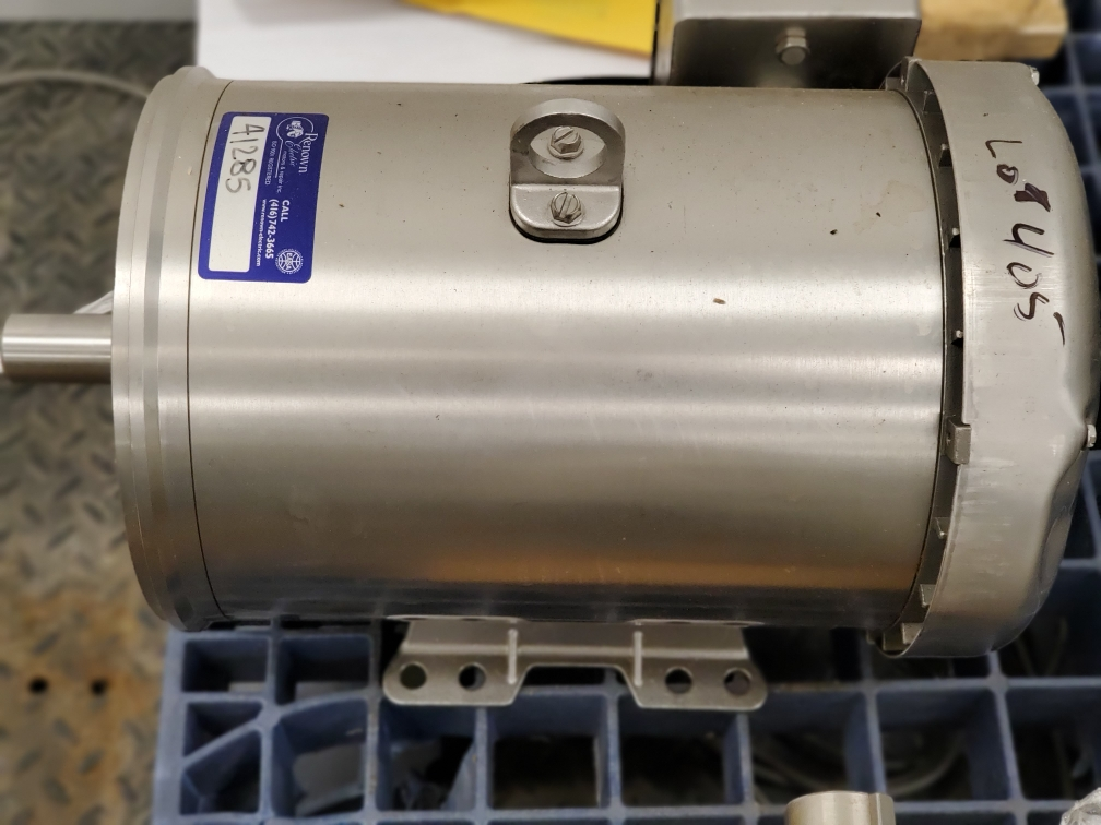 Baldor Reliance 15HP Washdown Duty Stainless Steel Electric Motor