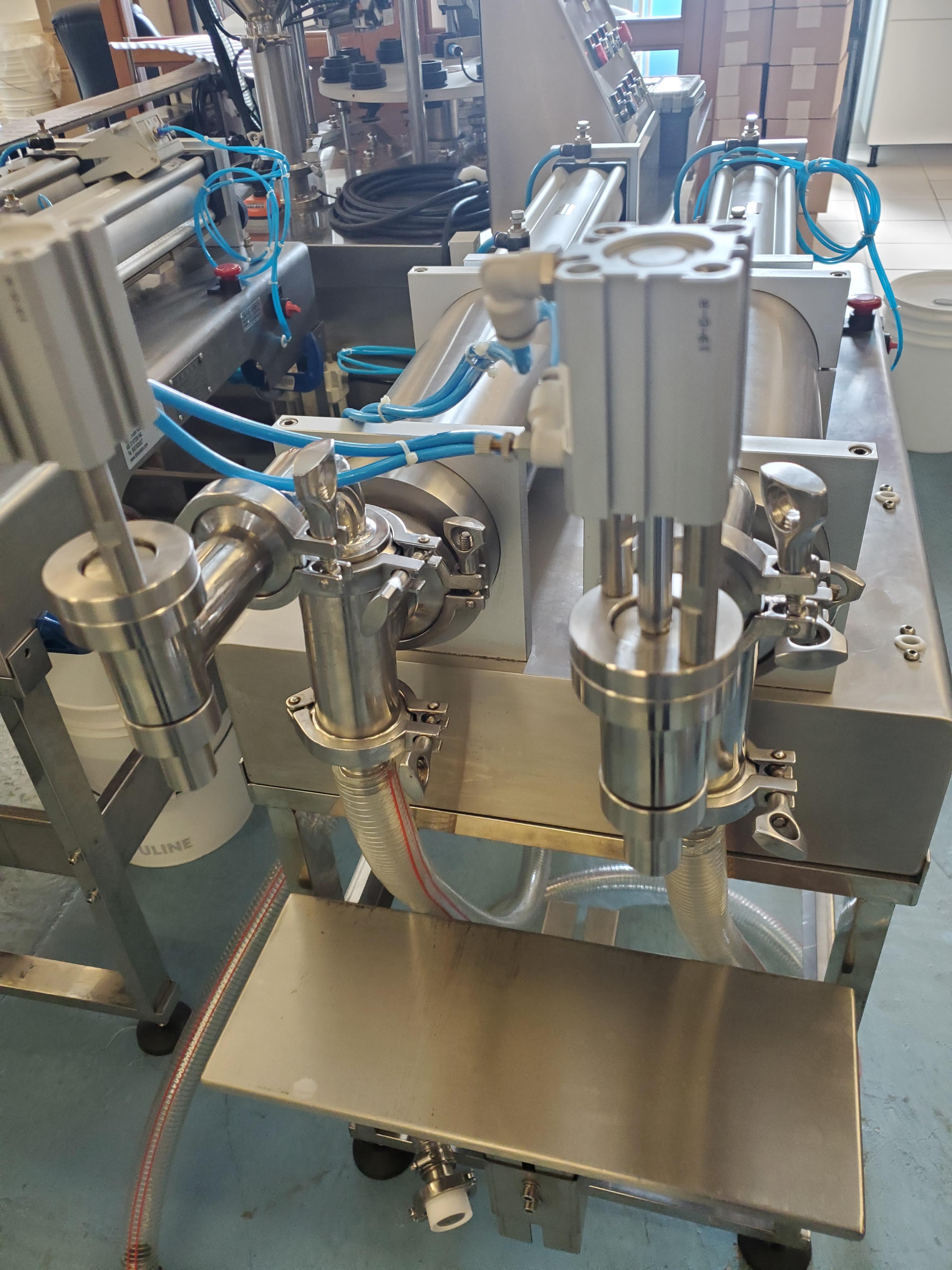 Double Piston Liquid Filler - All Stainless Steel Construction