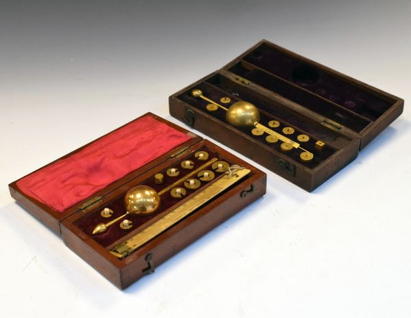 Lot 265 - 19th Century cased Sikes Improved Hydrometer 'Made only by Dring & Fage 20 Tooley St. near London
