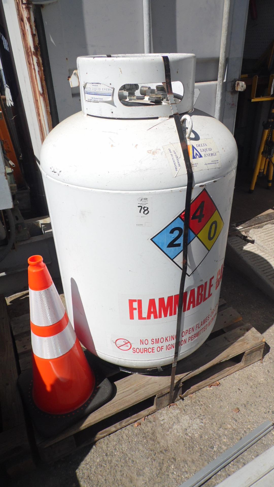 Lot 78 - FLAMMABLE GAS TANK