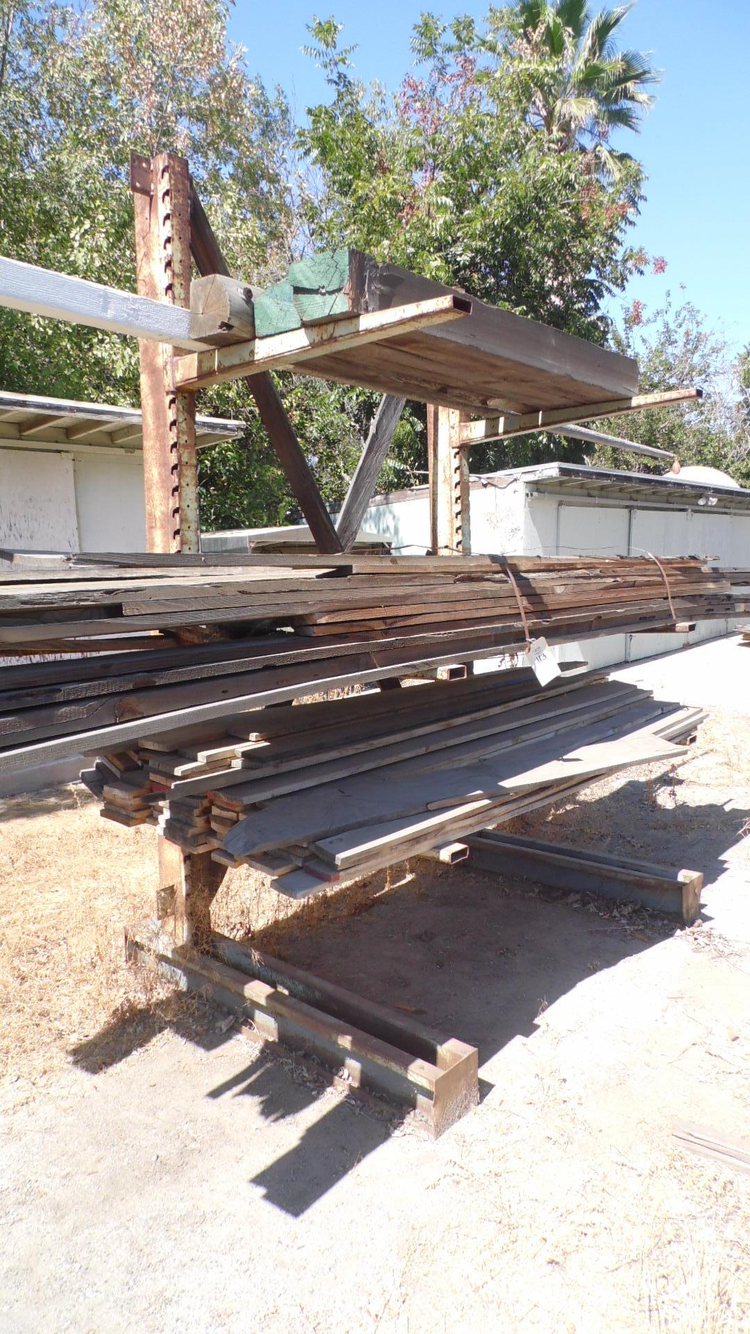 Lot 113 - CANTILEVERED RACK w/ WOOD