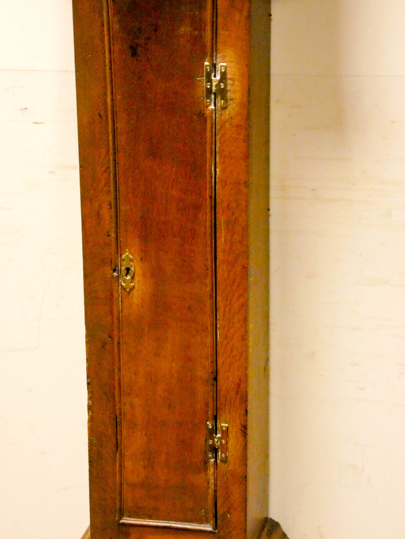 A striking 30 hour grandfather clock in oak case, - Image 6 of 6