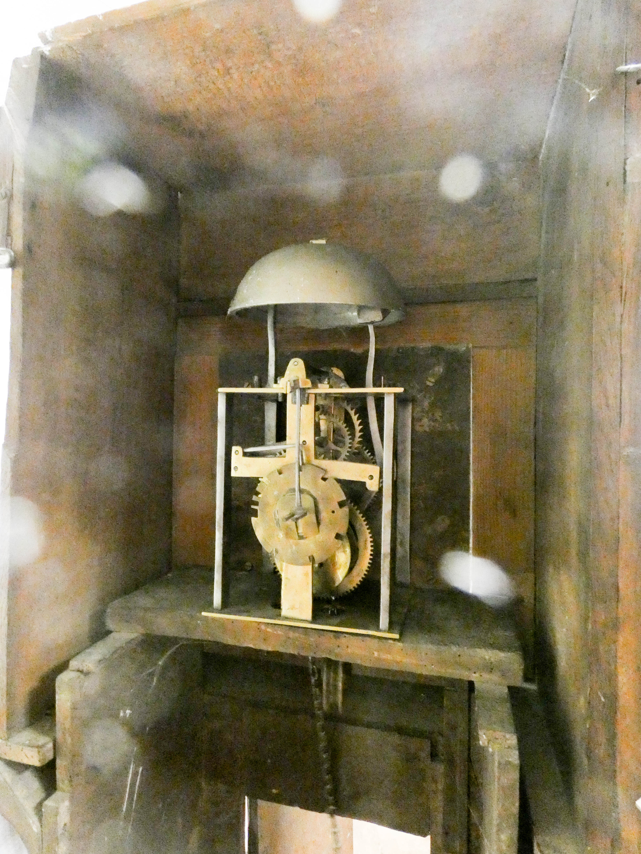 A striking 30 hour grandfather clock in oak case, - Image 4 of 6