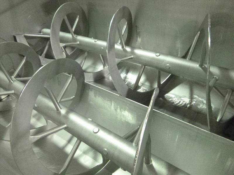 s/s dual shaft ribbon blender electric  64 in. W x 84 in. L. x 42 D - Image 2 of 3