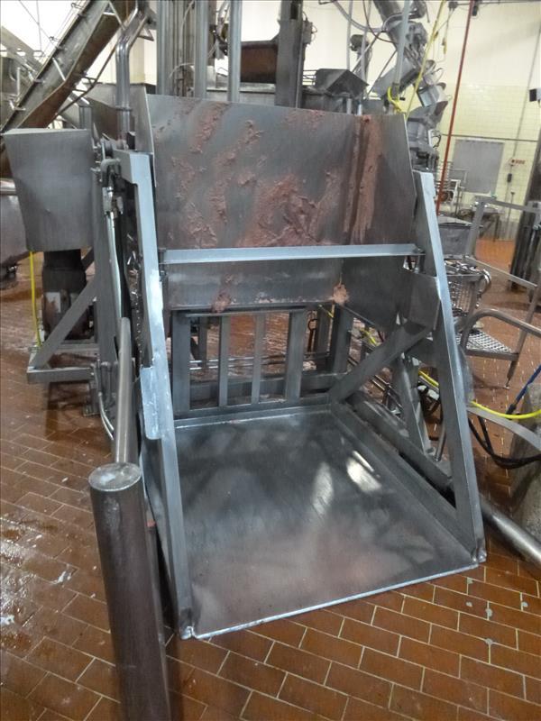 66 in. x 48 in. s/s bin dumper c/w hydraulic power pack