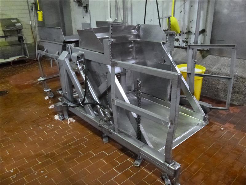 s/s bin dumper 56 in. x 42 in. c/w hydraulic power pack