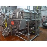 s/s dual shaft ribbon blender vacuum  48 in. x. 70 in. x 30 in. deep c/w load cells & WI-110