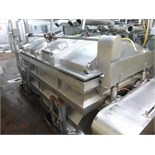 s/s dual shaft blender 8 ft. x 70  in. x 40 in deep electric drive  lid c/w load cells & WI-110