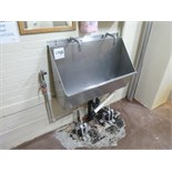 hand wash sink s/s 2-station foot-operated 36 in.