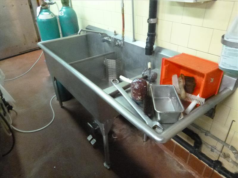 sink s/s 26 in. x 72 in. 2-basin