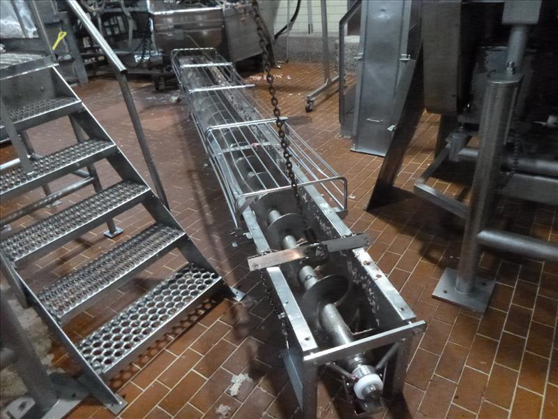 s/s 19 ft.  L x 12 in. diam. screw conveyor