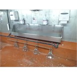 hand wash sink s/s 4-station foot operated