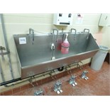 hand wash sink s/s 4-station foot operated 75 in.