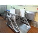 s/s hydraulic bin dumper KSI mod. AI-800 ser. no. W79-119  48 in. x 51 in.  c/w hydraulic power pack
