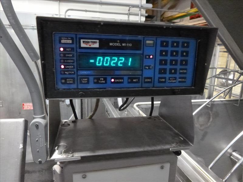 RMF hydraulic s/s dual shaft vacuum ribbon blender tubular ribbons mod. 288000 ser. no. 20267 8000 - Image 5 of 6