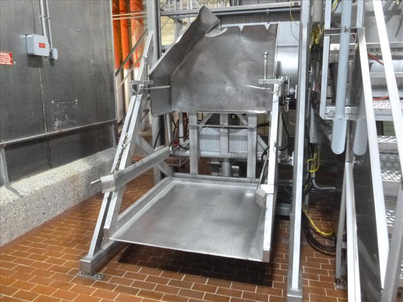 s/s bin dumper 57 in. x 48 in. c/w hydraulic power pack