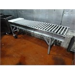 s/s roller conveyor 20 in. x 7 ft. L. w/ (2) casters