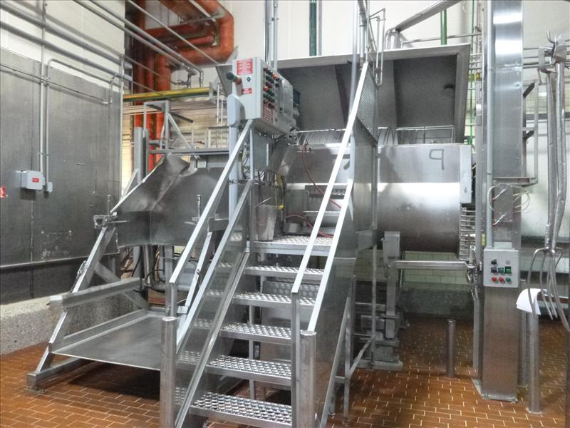 RMF hydraulic s/s dual shaft vacuum ribbon blender tubular ribbons mod. 288000 ser. no. 20267 8000 - Image 2 of 6