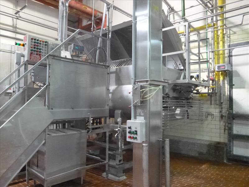 RMF hydraulic s/s dual shaft vacuum ribbon blender tubular ribbons mod. 288000 ser. no. 20267 8000