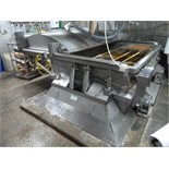 s/s dual shaft vacuum ribbon blender approx.. 8 ft. x 70 in. x 40 in. deep lid c/w load cells &