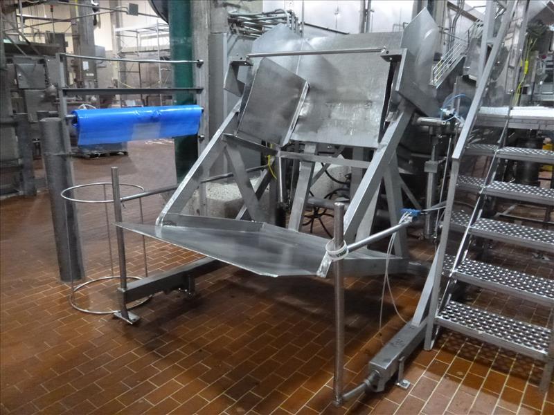 s/s bin dumper  57 in. x. 48 in. 2000 lb. cap