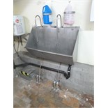 hand wash sink s/s 2-station foot-operated 48 in.