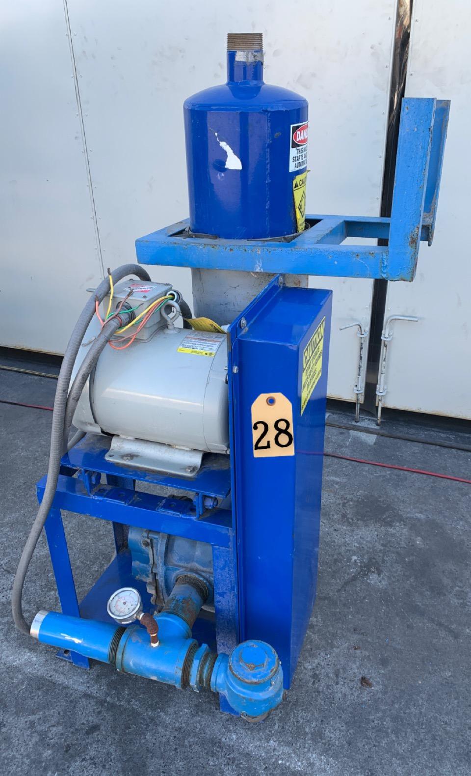 7.5 hp PNEU-CON CONVEYOR w/ DRESSER ROOTS ROTARY LOBE BLOWER