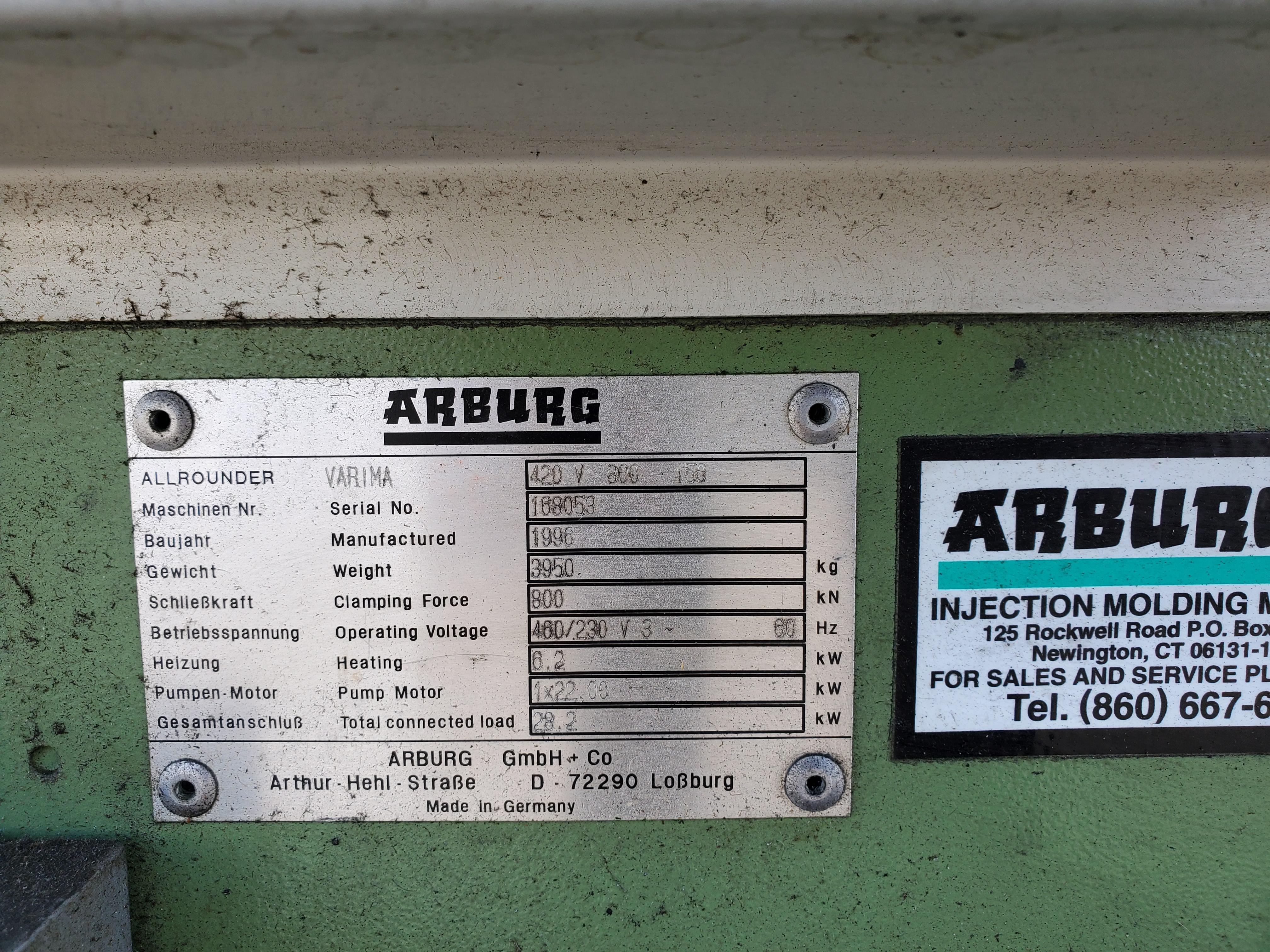90 TON ARBURG ALLROUNDER VARIMA INJECTION MOLDING MACHINE - Image 2 of 5